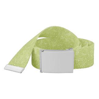Lime Green Glitter Sparkles Belt