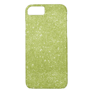 Lime Green Glitter Sparkles iPhone 8/7 Case