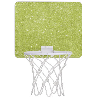 Lime Green Glitter Sparkles Mini Basketball Hoop