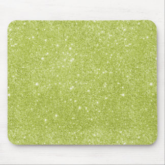 Lime Green Glitter Sparkles Mouse Pad