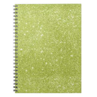 Lime Green Glitter Sparkles Notebook