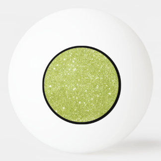 Lime Green Glitter Sparkles Ping Pong Ball