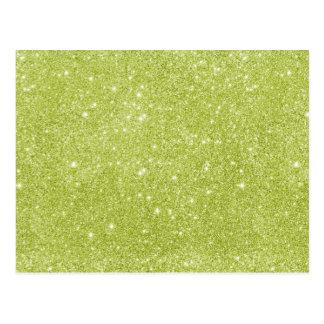 Lime Green Glitter Sparkles Postcard