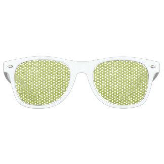 Lime Green Glitter Sparkles Retro Sunglasses