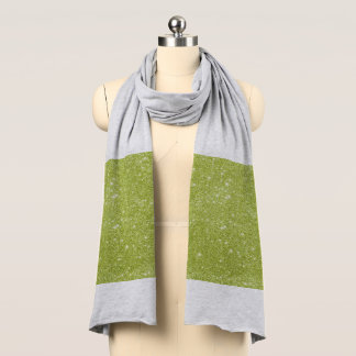 Lime Green Glitter Sparkles Scarf