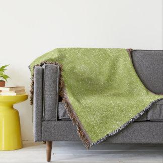 Lime Green Glitter Sparkles Throw Blanket