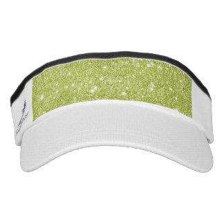 Lime Green Glitter Sparkles Visor