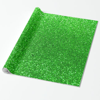 Lime green glitter wrapping paper