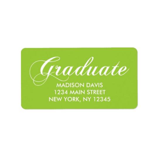 Lime Green Graduation Address Labels