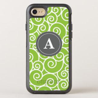 Lime Green Gray Swirls OtterBox Symmetry iPhone 7 Case