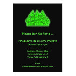 Lime Green Halloween Glow Party 13 Cm X 18 Cm Invitation Card