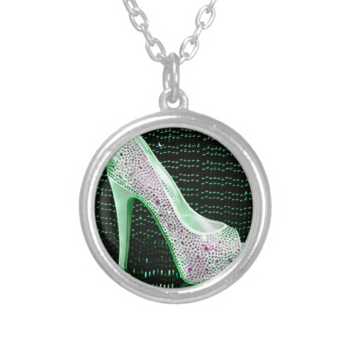 Lime Green High Heel Pendant