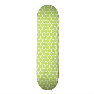 Lime Green Honeycomb Pattern Skate Board Deck