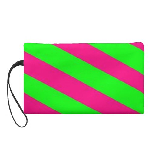 lime green-hot pink wristlets