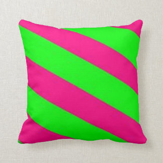 lime green-hot pink cushion