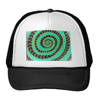 Lime Green Inverted Spiral Cap