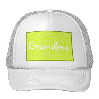 Lime Green Japanese Tropical Fans Cap