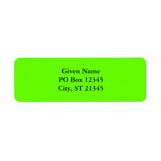 Lime Green Return Address Label