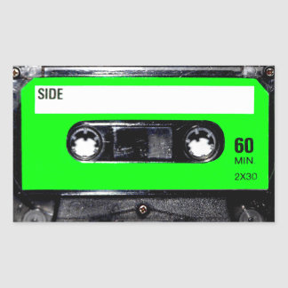 Lime Green Label Cassette