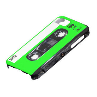 Lime Green Label Cassette iPhone 5 Case