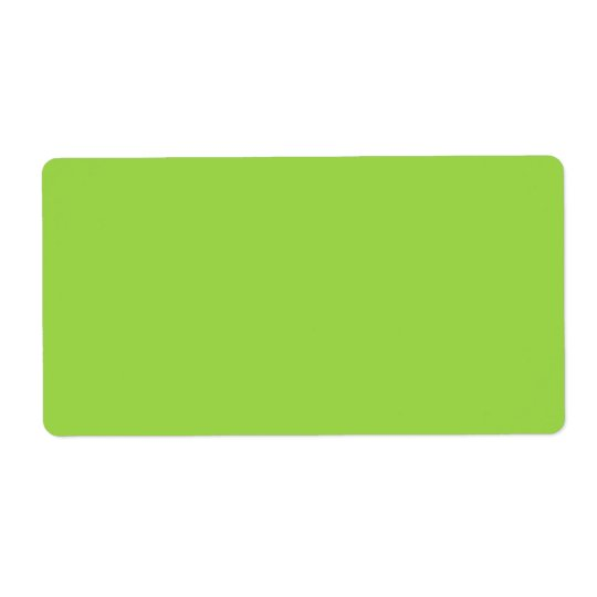 Lime green labels,  plain solid colour blank
