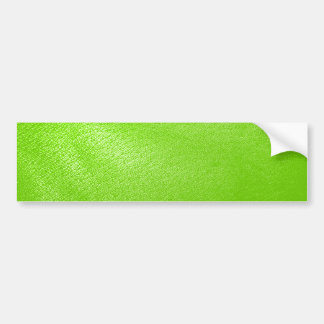 Lime Green Leather Look (Faux) Bumper Sticker