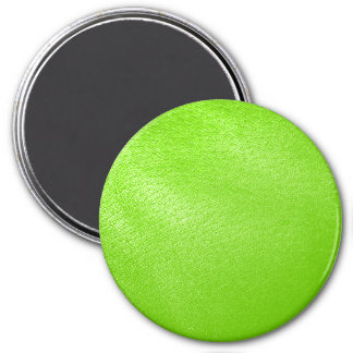 Lime Green Leather Look (Faux) Magnet