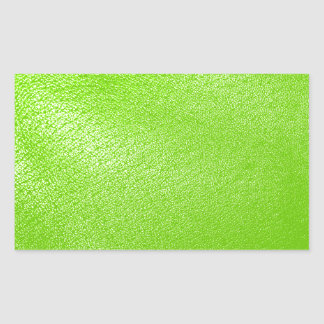 Lime Green Leather Look Faux Stickers