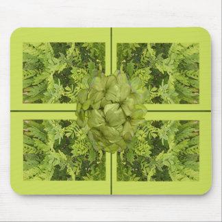 Lime Green Leaves Mousepad