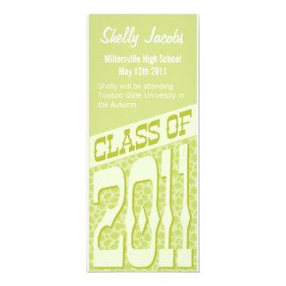 Lime Green Leopard Princess Class of 2011 Announce Announcement