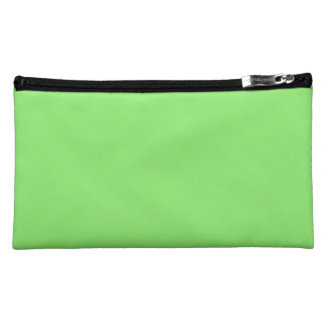 LIME GREEN LIGHT  (solid color) ~ Makeup Bags