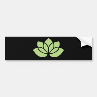 Lime Green Lotus Flower Bumper Sticker
