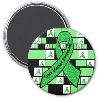 Lime Green Lyme Disease Awareness Magnet