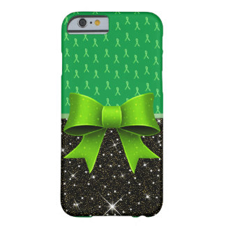 Lime Green Lyme Disease Awareness Ribbons and Bow Barely There iPhone 6 Case