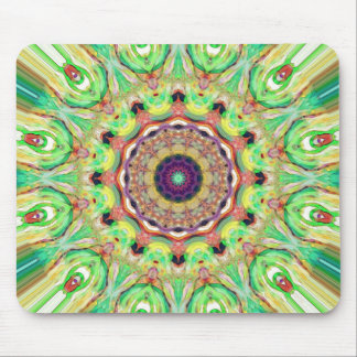 Lime Green Mandala Mouse Pad