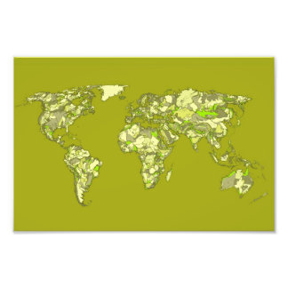 Lime green maps photograph