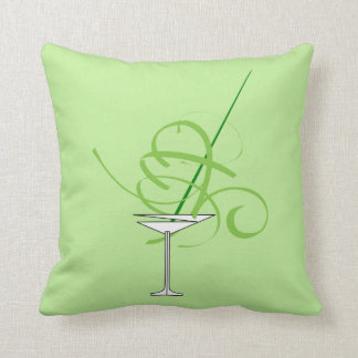 Lime Green Martini Glass Pillow
