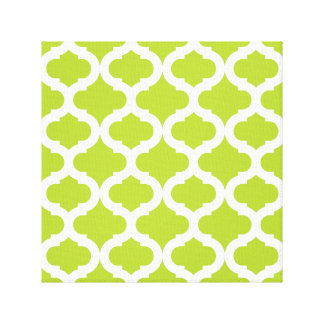 Lime Green Moroccan Pattern Gallery Wrapped Canvas