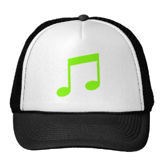 Lime Green Music Hat