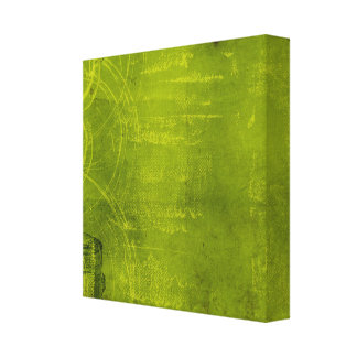 LIme Green Neon Halloween Themed Background Canvas Print