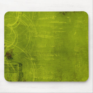 LIme Green Neon Halloween Themed Background Mouse Pads