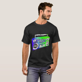 Lime Green Old School Boombox T-Shirt