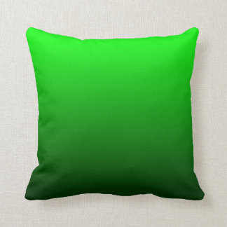 Lime Green Ombre Cushion