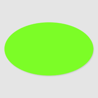 Lime Green Oval Sticker