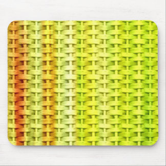 Lime green painting wicker art graphic design mouse pad