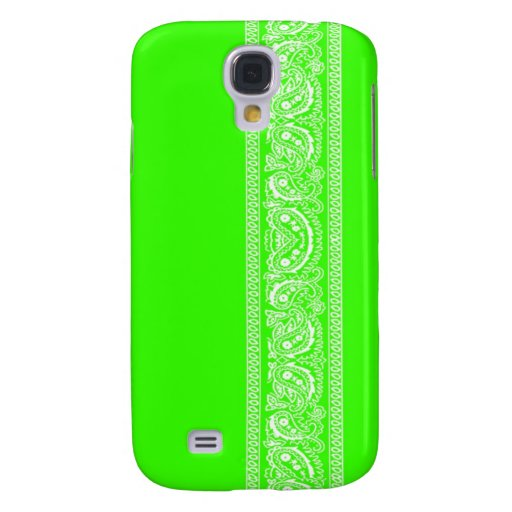 Lime Green Paisley Bandana iPhone 3 Case