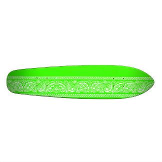 Lime Green Paisley Skateboard Oldschool