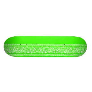 Lime Green Paisley Skateboard Pro