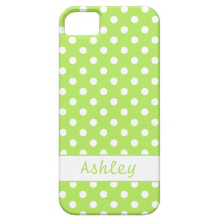 Lime Green Polka Dots Barely There iPhone 5 Case