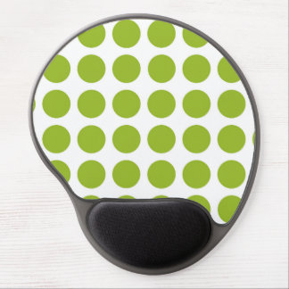 Lime Green Polka Dots Gel Mousepad